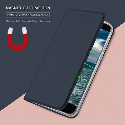 For HTC U11 /Life, Business Magnetic Book Flip Leather Stand Wallet Case Cover