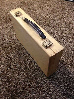 Wooden Carrying Chest Suitcase 15x9x3 inches