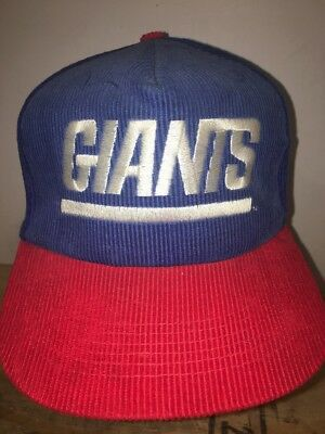 Vintage NFL Starline New York Giants Red Blue Corduroy Hat Cap Snapback  Football ec11c044e
