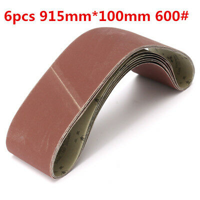 6pcs 915mm*100mm Alumina Sanding Belts 600 Grit Sandpaper Self Sharpening Oxide