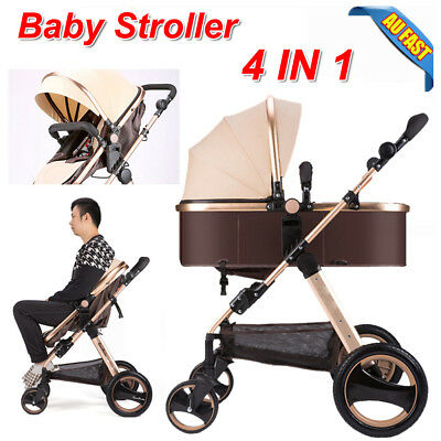 2018 4 in 1 Baby Toddler Pram Stroller Foldable Buggy Jogger With Bassinet