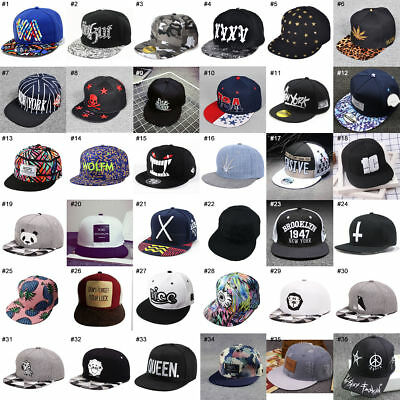 Unisex Men Women Snapback Adjustable Baseball Cap Hip-Hop Hat Cool Bboy Hats Lot