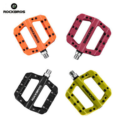 ROCKBROS Mountain Bike Pedal Bicycle Pedal Bearing Comfortable Wide Nylon Pedals