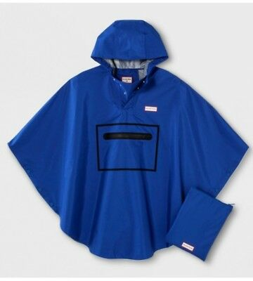 Hunter For Target Waterproof Packable Poncho Blue M/L KIDS PONCHO