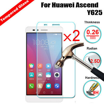 2Pcs Premium+9H Tempered Glass Shockproof Phone Screen Protector Film For Huawei