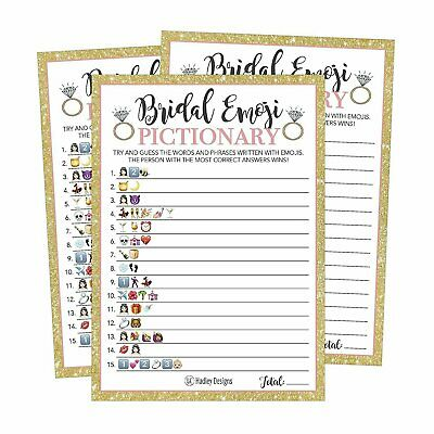 25 Emoji Pictionary Bridal Shower Games Ideas Wedding Shower Bachelorette