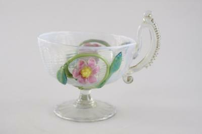 ANTIQUE 19th Century VENETIAN HAND MADE OPALESCENT GLASS LARGE CUP