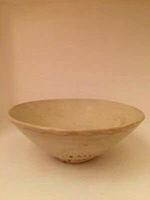 Antique Chinese Song Dynasty (960-1279) Tan Glazed Ceramic Bowl