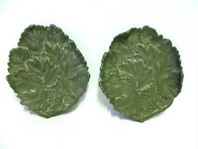 Two Georgian Regency Period Pewter leaf Pin Dishes c1820s