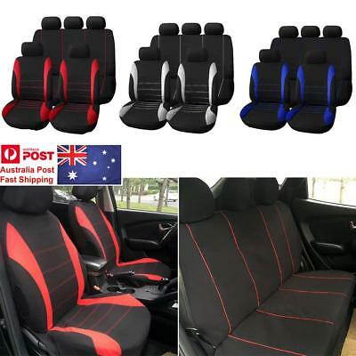 Universal Full Car Seat Covers Auto Seat Protector Set Washable All Seasons 9Pcs