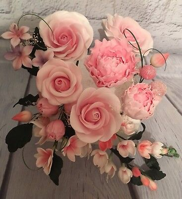 Rose/peony Cake Topper/decoration       All Separate