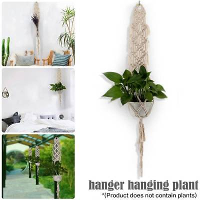 Vintage Pot Holder Macrame Plant Hanger Hanging Planter Basket Jute Rope Braided