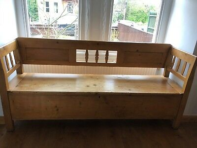 Old pine settle - 190cm wide and 51.5cm deep