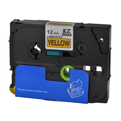 12mm Black on Yellow Label Tape Compatible for Brother P-Touch PT-D210 HS1163