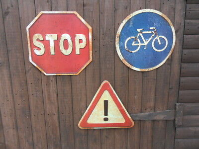 set of 3 man cave feature road signs bikes only warning notice sign plaque SC1