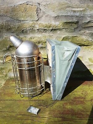 Bee Smoker Stainless Steel Beekeeping Equipment with hanging hook UK Stock