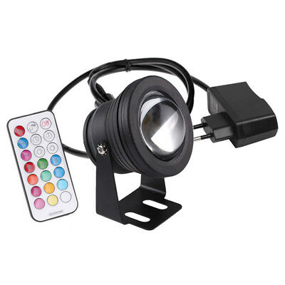Garden Fountain Pond RGB Spotlight Aquarium Fish Tank Pool Underwater Light 10W