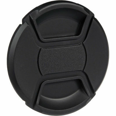 55mm Front Lens Cap Center Pinch Snap on for Canon Nikon Sony with string uk