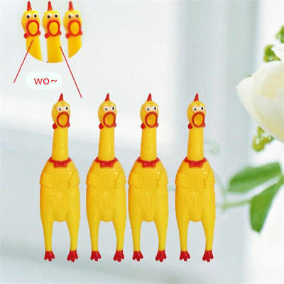 1Pcs 31cm Squeeze Screaming Chicken Squawking Shrilling for Pet Dog Fun Toy Gift