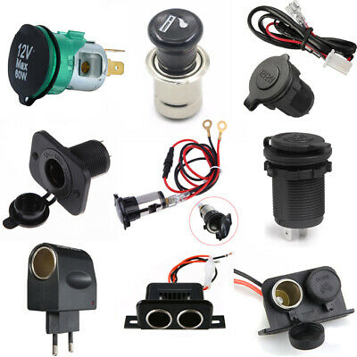 12V Car Vehicle Boat Cigarette Lighter Power Charger Adapter Socket Plug Outlet