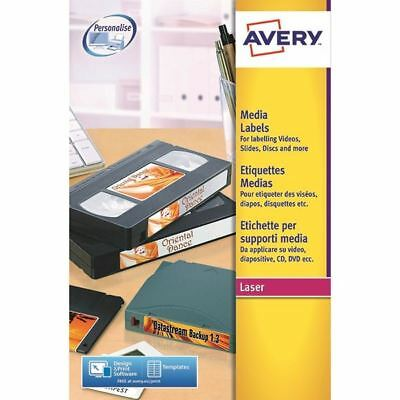 Avery White Laser Print Video Spine Label 145x17mm (Pack of 400) [AVL7674]