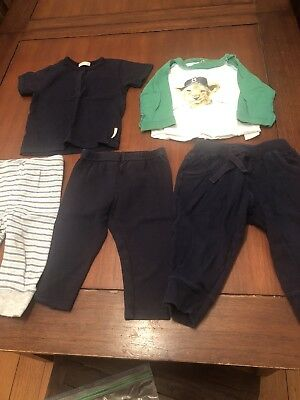 Baby Boys Size 0 Bebe By Minihaha Purebaby Ouch Pants Tops Bundle