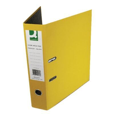 Q-Connect Yellow Foolscap Paperbacked Lever Arch File (Pack of 10) [KF01471]