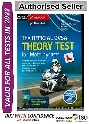 Official DVSA Motorbike/Motorcycle Theory Test DVD for PC and MAC 2019 - MTrDVD