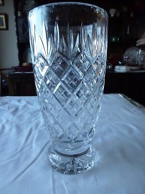 Beautiful Very Large Crystal Glass Vase