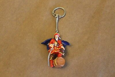 Vintage Captain Morgan Pirate Rubber Figure Spiced Rum Key Ring Keychain