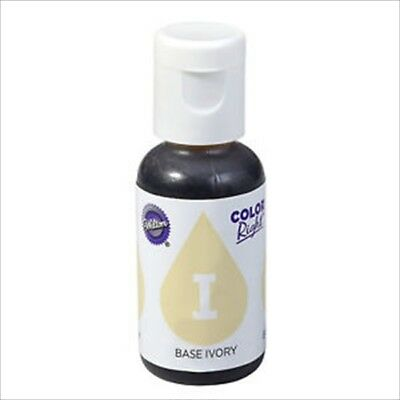 Wilton Color Right Ivory Base Refill Food Colouring Cake Baking Treats 19Ml New