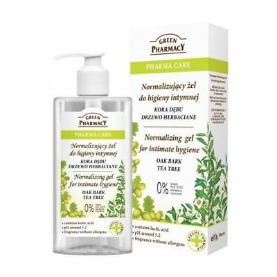 Green Pharmacy Natural Intimate Hygiene Normalising Gel Oak Bark Tea Tree 300ml