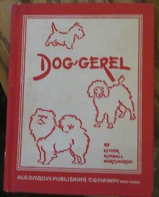Dog-Gerel dog verse poetry book 1936 illustrated Scotties Airedale Irish Setter