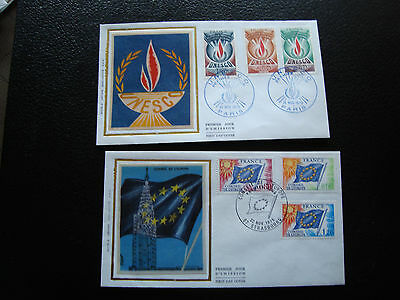 FRANCE - 2 envelopes 1st day 1975 (unesco/council europa) (cy78) french