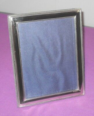 "Large Size 9,5"" Hallmarked Sterling Silver Classic Design Photo Picture Frame"