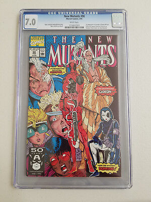 New Mutants 98 CGC 7.0 White Pages Liefeld Nicieza Deadpool Cable Domino Copycat