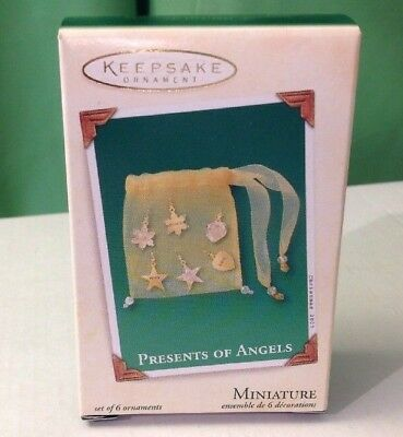 2003 Hallmark Miniature ornament set of 6, Presents of Angels, New in Box
