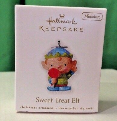 2010 Hallmark Miniature ornament, Sweet Treat Elf, New in Box