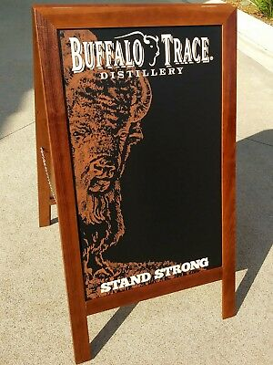 Buffalo Trace Bourbon Whiskey Large Wooden Message Board Bar Sign Brand New