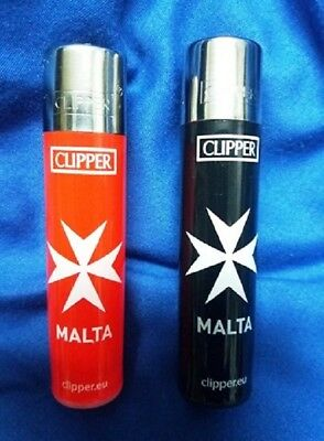 Knights Templar Cross of Malta Clipper Lighter RED and BLACK Collectable Unused
