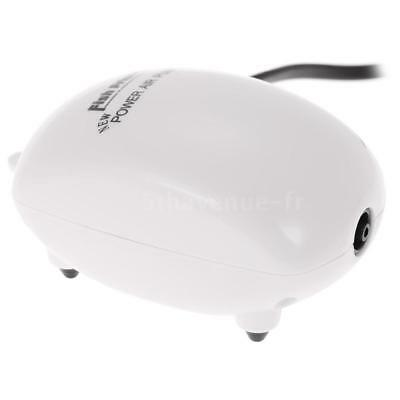 Aquarium Pompe à Air Unique Prise 2.5W 220-240V Fish Tank Oxygène Airpump K1X0