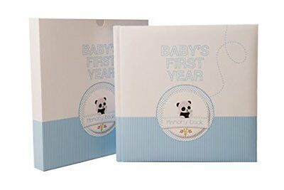 Baby Memory Book - 46 pages & 12 design Monthly Stickers Baby boy First Year