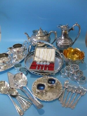 Lovely Large Job Lot of Antique & Vintage Silver Plated Pieces & Mixed Cutlery