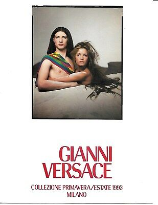 Very Rare Stephanie Seymour on Cover Two Vintage Gianni Versace Catalogs 1993