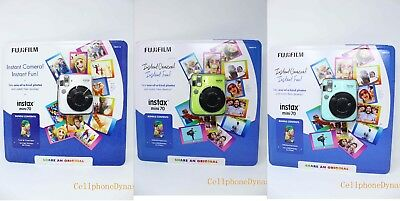 Fujifilm Instax Mini 70 - Instant Film Camera Bundle w/ 10 Rainbow Film - NEW !!