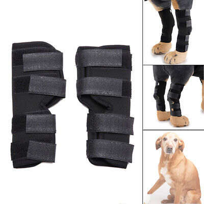 1Pair Pet Dog Knee Pads Support Leg Safety Hock Joint Brace Wrap Protectors Nice