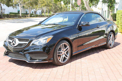 2015 Mercedes-Benz E-Class E550 CONVERTIBLE AMG SPORT NAV 360 CAM 7K MILES!!! 1-OWNER CLEAN CARFAX HUGH MSRP LOADED TO THE GILLS FLORIDA CAR LOW RESERVE!!!!!!