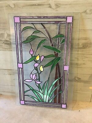 Art Decor Style Hand Painted & Leaded Glass Panel Sun Catcher Door Feature