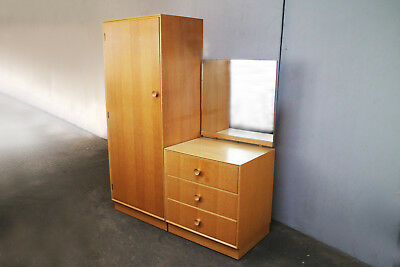 1970's mid century wardrobe and chest of drawers matching set by Meredrew