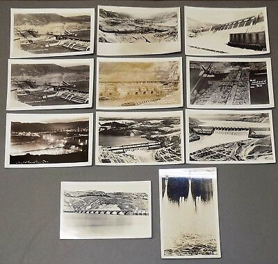 Real photo postcard lot GRAND COULEE DAM construction engineering WA 1930s rppc